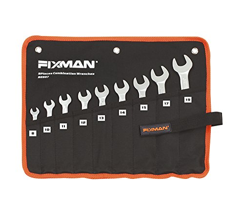 Fixman A set of 9 combined spanneropen end wrenches made of chrome-vanadium steel from 031 to 075 inches