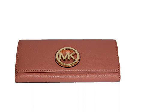 Michael Kors Fulton Flap Leather Continental Wallet - Antique Rose by Michael Kors