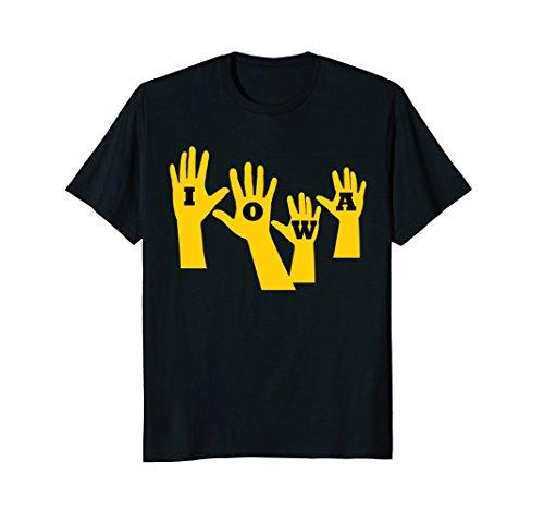 Old Gate - Mens Iowa Football Iowa Waves T-Shirt XL Black