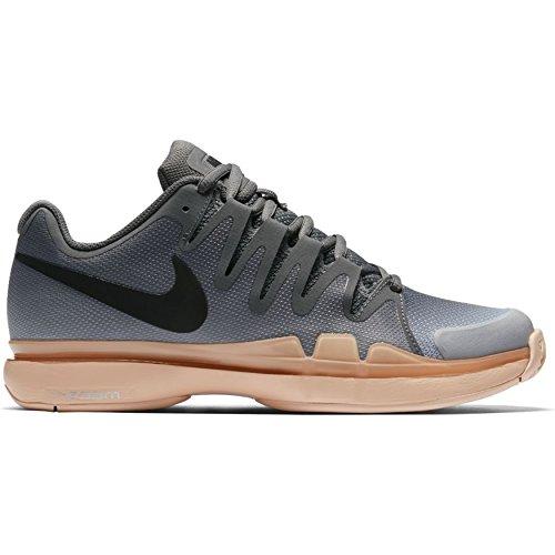 Nike Women's Zoom Vapor 9.5 Tour Tennis Shoe (U.S. Open 2016 Colors) (7, Dark Grey/Black-Orange Quartz)
