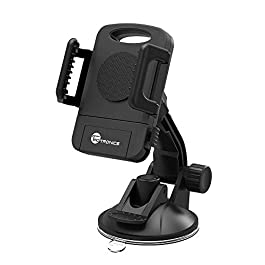 Car Phone Holder, TaoTronics Car Phone Mount for Car Windscreen with One-button Release for iPhone XS XR XS MAX, Galaxy S9, and Mobile phone – Black