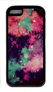iPhone 5C Case, iCustomonline Cool Galaxy Shell Back Case Cover Skin for iPhone 5C - Black