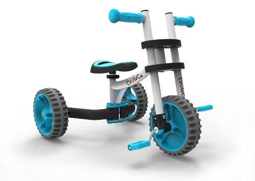 (YBIKE Evolve Bike Ride On, White/Blue)