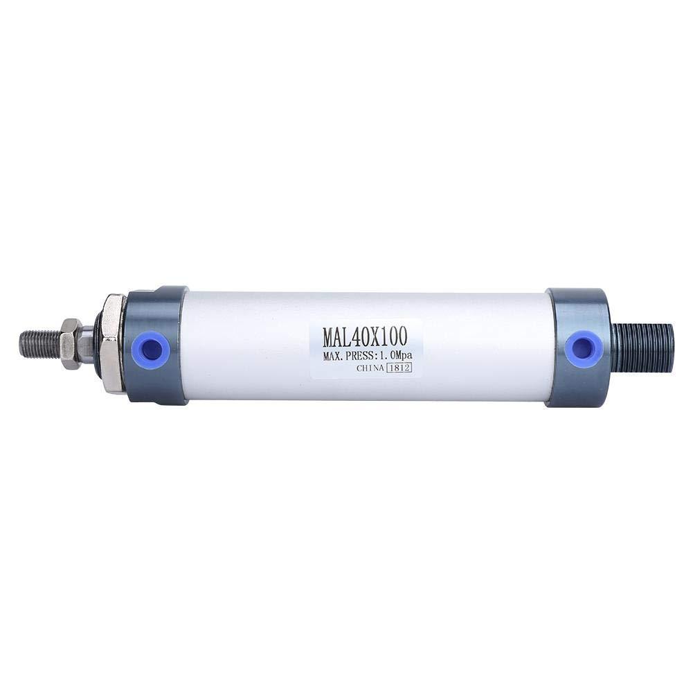 100mm 40 mm Di/ámetro 25//50//75//100 mm Mini Cilindro de Aire Aleaci/ón de Aluminio Varilla Simple Cilindro de Aire Neum/ático de Doble Efecto