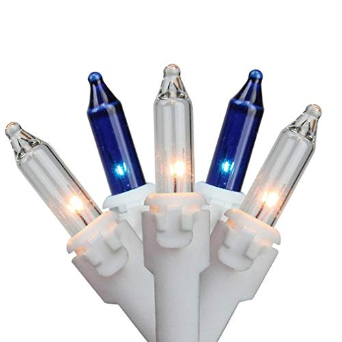 (Northlight Set of 150 Blue & Clear Mini Icicle Christmas Lights 3