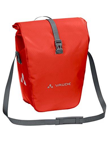 VAUDE Aqua Back - Rear Pannier Bike Bag - Set of 2 - PVC-Free Tarpaulin Bike Panniers - Waterproof Pannier Bags with a 48 Litre Total Storage (Pvc Bike Racks)
