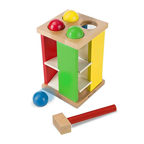 "Melissa & Doug Pound & Roll Tower, Developmental Toy, Classic Pounding Toy, Bright-Colored Pieces, Durable Construction, 10"" H x 5.65"" W by Melissa & Doug (Image #6)"