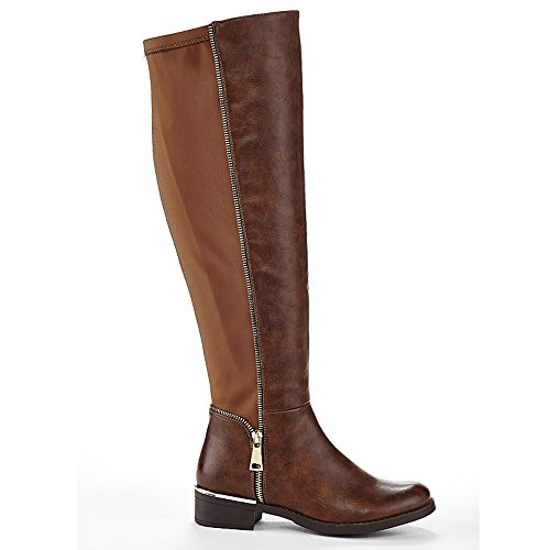 Extreme By Eddie Marc Womens Stretch Back Boot Brown 5QCsGYSMn
