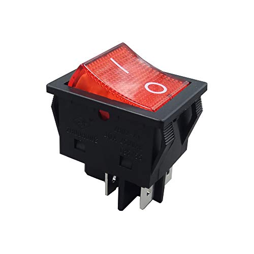 ZH02-Ax AC 250V 16/20/25/30/35/40A 4 pines Interruptor basculante con lámpara ON-OFF Interruptores de botón pulsador para soldadoras CE TUV CQC 5-Pack ...