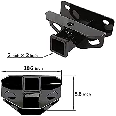 Class 3 Trailer Hitch & Cover Kit Fits 2003-2020 Dodge Ram 1500 & 2003-2013 Ram 2500 & 2003-2012 Ram 3500 OE Style 2 inch Rear Receiver Hitch Tow Towing Trailer Hitch Combo Kit With One Year Warranty: Automotive