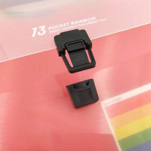 SENRISE formato A4 con strato interno colorato per ufficio Cartellina portadocumenti espandibile con 13 tasche famiglia a fisarmonica scuola