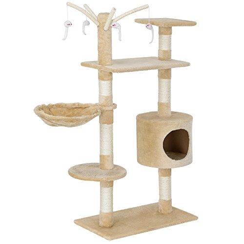 encasa-Katzen-Kratzbaum-ca-65-x-35-x-130-cm3-verschiedene-Farben-Kuschelhhlen-Aussichtsplatformen-Sisal-mit-vielen-Spiel-und-Kuschelmglichkeiten