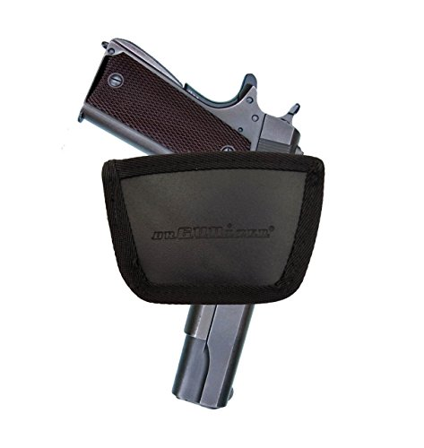 1911 All Models orGUNizer Leather Inside&Outside Waistband Slide Holster (SLH), Black,