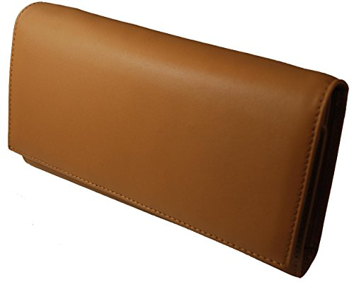 Italian Leather Clutch Wallet (Castello Italian Soft Leather Ultimate Frame Snap Clutch Wallet (Camel))