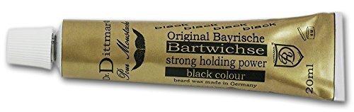 Dr Dittmar Original Bavarian Moustache Wax with Black Colouring 20ml