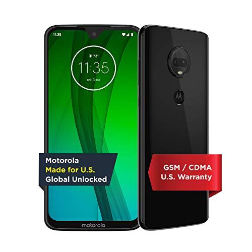 Moto G7 - Unlocked - 64 GB - Ceramic Black (US Warranty) - Verizon, AT&T, T-Mobile, Sprint, Boost, Cricket, & Metro