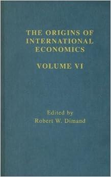 Book Origins Intl Economics Vol 6 (Origins of International Economics)