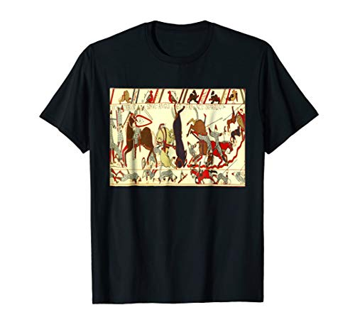 - Bayeux Tapestry T-Shirt Embroidery Battle of Hastings 1066