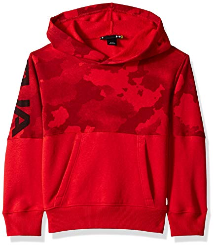 Under Armour Boys' Little Pull Over Hoody with Pocket, Traverse camo red, - Under Boys Armour Sweatshirt
