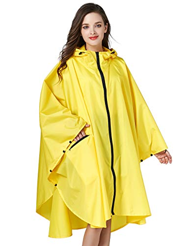 LOHASCASA Unisex Rain Ponchos Waterproof Adults Rain Coat Ja