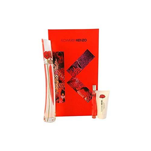 Kenzo Flower 3 Piece Gift Set for Women FL380, 3.4 Ounce