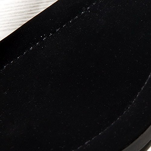 Adee Ladies Metalornament cremallera de oveja sandalias Negro - negro