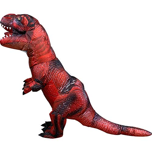 Adult Inflatable Dinosaur T-Rex Cosplay Costumes Blow Up Suit t-rex Clothing (Red1) ()