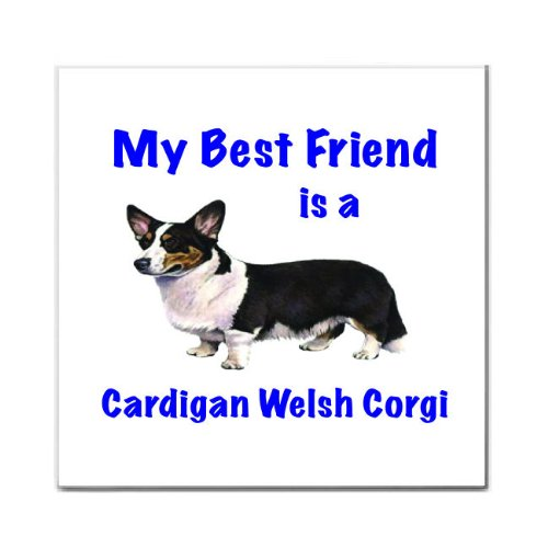 - My Best Friend is Cardigan Welsh Corgi Tile Trivet