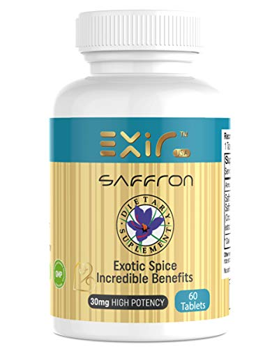 Exir Saffron Mood Support Dietary Supplements 60 Tablets   Made in U.S.A …