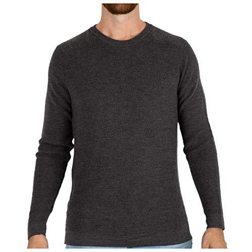 - MERIWOOL Mens Merino Wool Knit Sweater Crewneck Pullover Top - Medium