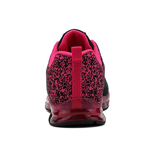 Workout Women's Cushion Fashion amp;LV Jogging Walking Shoes Air Fitness Sport Trail Sneakers Black Gym LIN Red Running UxXqfFf