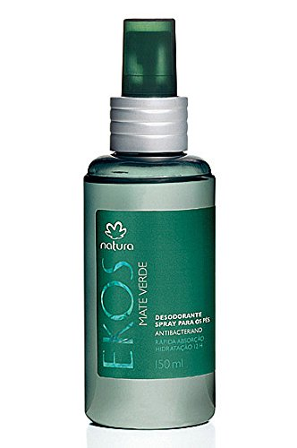 Linha Ekos Natura - Desodorante Spray para os Pes Mate Verde 150 Ml - (Natura Ekos Collection - Green Hieba Mate Foot Deodorant 5.07 Fl Oz)