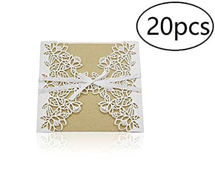 Amazon Com Wedding Invitations Cards Laser Cut Lace