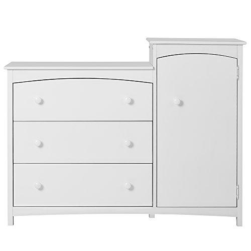 Combo Dresser Chest - Dream On Me Providence Chest Combo, White
