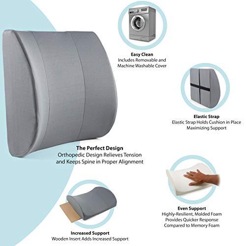 DMI Relax-A-Bac, Lumbar Cushion, Lower Back Support Pillow W