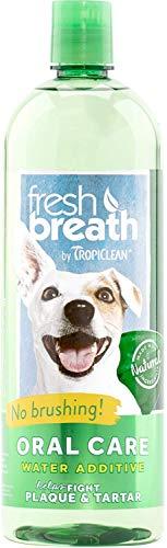 Tropiclean Fresh Breath Plaque Remover Pet Water Additive