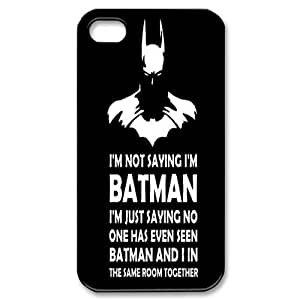 Personalized I'm Not Saying I'm Batman Iphone 4,4S Cover Case, I'm Not Saying I'm Batman DIY Phone Case for iPhone 4, iPhone 4s at Lzzcase