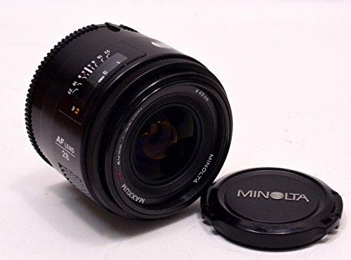 Minolta Maxxum Dynax AF 28mm F2.8 lens fits all Minolta Maxxum/Dynax AF SLR/DLR cameras and Sony Alpha A-Mount DSLR/DSLT cameras