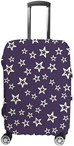スーツケースカバー 星柄 紫 伸縮素材 キャリーバッグ お荷物カバ 保護 傷や汚れから守る ジッパー 水洗える 旅行 出張 S/M/L/XLサイズ
