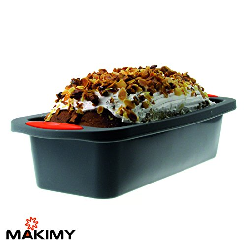 Makimy Premium Silicone Loaf Pan + Bonus 50 Amazing Loaf Recipes - Best Value Bread & Cake Baking Mold on Amazon