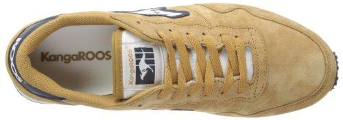Kangaroos Invader Pig Suede - Zapatillas de Deporte hombre Beige - Beige (Dark Wheat/Dark Navy 141)