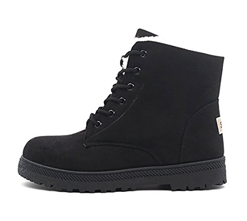Women's Eleter Snow Platform Black Warm Boots Suede Shoes Sneakers Fur Flat dq41qf