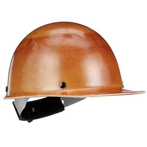 MSA 816651 Skullgard Protective Hard Hat Front Brim, Swing-Ratchet Suspension, Standard Size, Natural Tan