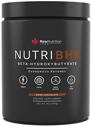 Cheap NutriBHB Exogenous Ketones Supplement – Patented Beta-Hydroxybutyrate (BHB) Keto Salts Formulated for Rapid Ketosis, Fat Burn, Increased Energy & Focus (Dark Chocolate)