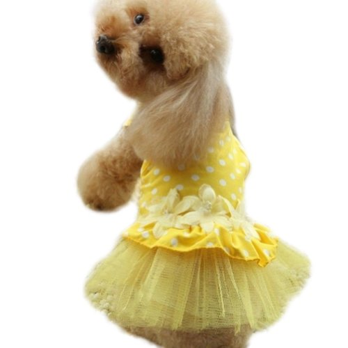 PanDaDa Flower Summer Dresses Yellow