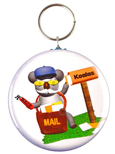 """Price comparison product image Koala Mailman Two-Side Keychain + Magnet + Pinback Button,  2.25"""""""