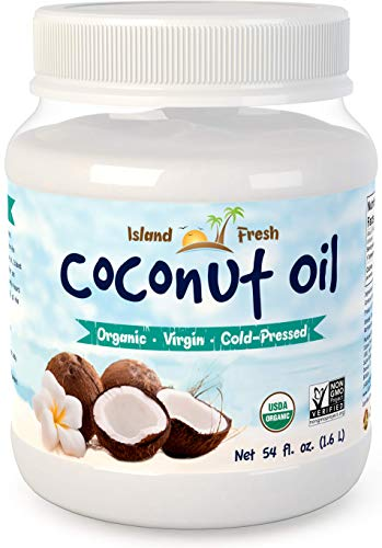 - Island Fresh Superior Organic Virgin Coconut Oil, 54 Ounce
