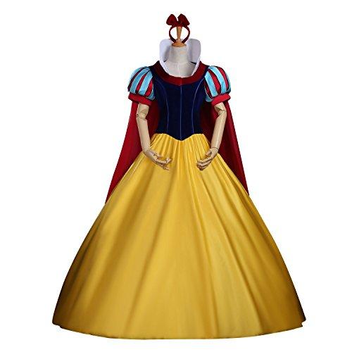 Cosrea Disney Snow White Velvet Bodice Complete Adult Cosplay Costume (L) (Custom Made Disney Princess Costumes)