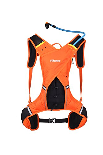 Source Outdoor Dune 1.5L Trail Run Hydration Pack, Orange/Yellow