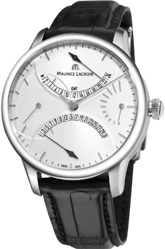 Maurice Lacroix Masterpiece Men's GMT Retrograde Automatic Watch MP6518-SS001-130